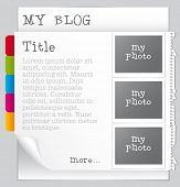 picture of blog icon  - Vector blog template - JPG