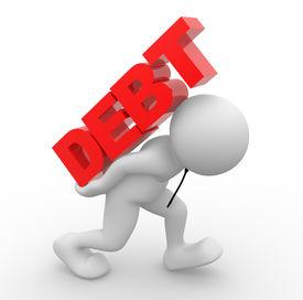 stock photo of debt free  - 3d people  - JPG
