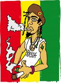 pic of jamaican flag  - Rasta man - JPG