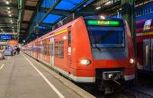 Suburban Electric Train At Stuttgart Railway Station. Germany - Baden-w�rttemberg
