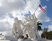 foto of iwo  - Statue of marines at Iwo Jima in Ft - JPG