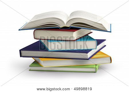 stack of books poster