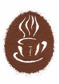 pic of coffee grounds  - Coffee Cup Made From Coffee Beans Background - JPG