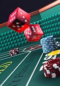 picture of crap  - Casino craps table  - JPG