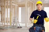 image of handyman  - Handyman with a tool belt - JPG