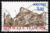 Postage Stamp France 1985 View Of Rock Of Solutre