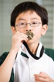 Winning Boy Kissing Medal