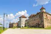 stock photo of peculiar  - The Citadel of Brasov Romania starting from 1981 after consistent restoration became a touristic complex with medieval peculiarity - JPG