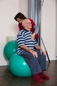 physiotherapist cared for an older man