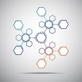 picture of kaleidoscope  - Kaleidoscope of hexagonal compounds - JPG