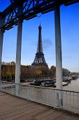 picture of mona lisa  - Iron Construction of one of the famoust european and french landmark Eiffel Tower in Paris - JPG