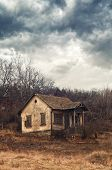 stock photo of abandoned house  - Old abandoned house - JPG