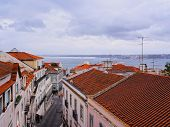 Alfama Skyline In Lisbon