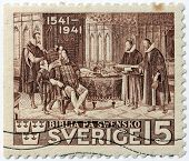 Gustav Vasa Bible Stamp