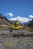 picture of aconcagua  - Helicopter near Aconcagua the highest mountain in the Americas at 6 - JPG