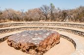 picture of meteorite  - View at the Hoba meteorite in Namibian nature  - JPG