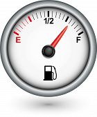 stock photo of fuel efficiency  - Car fuel gauge app icon - JPG