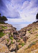 image of tomas  - Southern Coastline between Sant Tomas and Cala Galdana on Menorca Balearic Islands Spain - JPG