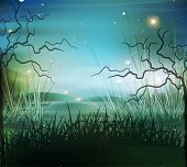 picture of marshlands  - vector landscape - JPG