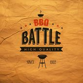 picture of battle  - a Bbq Battle Label  - JPG