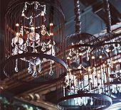 picture of chandelier  - Chrystal chandeliers close - JPG