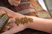stock photo of henna tattoo  - child - JPG