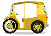picture of rickshaw  - Funny cartoon tuk tuk rickshaw - JPG
