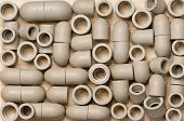 image of thermoplastics  - Fittings for plastic pipes - JPG