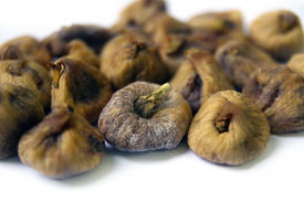 image of laxatives  - Dried Figs Isolated on the White Background - JPG