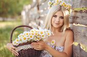 pic of chamomile  - Village woman - JPG