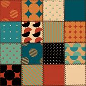 picture of quilt  - Seamless background pattern - JPG