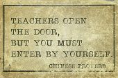 stock photo of proverb  - Teachers open the door  - JPG