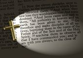 foto of bible verses  - The bible passage Matthew 28 - JPG