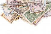 image of two dollar bill  - dollar bills - JPG
