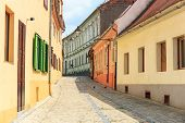 foto of sibiu  - Old Town in the historical center of Sibiu Romania - JPG