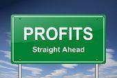 stock photo of profit  - profits sign - JPG