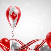 image of balloon  - Flag of Canada on balloon - JPG