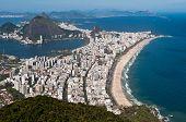 stock photo of ipanema  - Rio de Janeiro Aerial View Overlooking Ipanema Beach - JPG