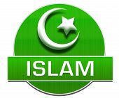 picture of sufi  - Islamic religious symbol over green background with text - JPG