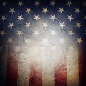 stock photo of democracy  - Closeup of grunge American flag - JPG