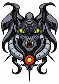 foto of gargoyles  - Illustration stylized mystical monster - JPG