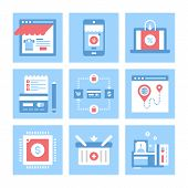 foto of payment methods  - Vector set of flat digital commerce icons on following themes  - JPG