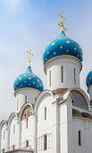 picture of trinity  - Closeup of the cupolas of Dormition Cathedral in the Trinity Lavra of St - JPG