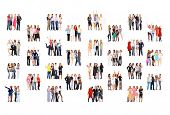 stock photo of foursome  - Together we Stand Business Picture  - JPG