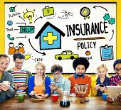 stock photo of policy  - Insurance Policy Help Legal Care Trust Protection Protection Concept - JPG