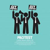 foto of anarchists  - Group Of Protester Graphic Symbol Vector Illustration - JPG
