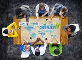 pic of coworkers  - Coorperation Business Coworker Planning Teamwork Concept - JPG