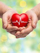 stock photo of beating-heart  - family health - JPG