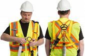 stock photo of precaution  - the image of fall protection awareness standard - JPG