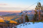 pic of ropeway  - ropeway at mountain landscape shot at - JPG
